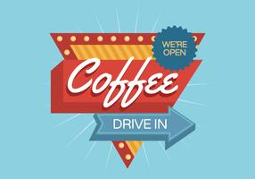 Coffee Vintage Sign vector