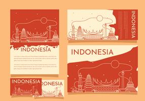 Indonesia Pride Building Template Vector