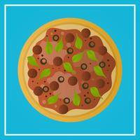 Realistic Pizza Fast Food With gradient Background Vector Illustration