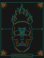 Awesome Flaming Skull Vectors