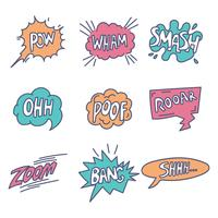 Comic Pop Art Onomatopoeia