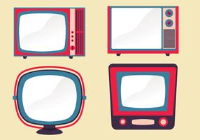 Retro Televisie Set Vector Pack