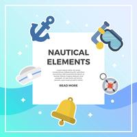 Flat Nautical Element Vector Collection