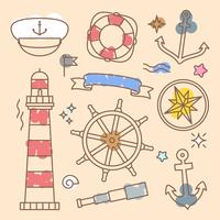 Unique Nautical Elements Vectors