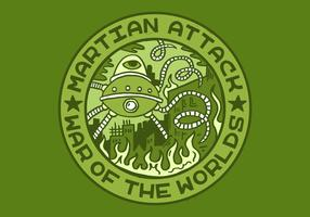 alien attack merit badge vector