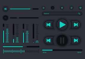 Audio Musiksteuerung Benutzeroberfläche