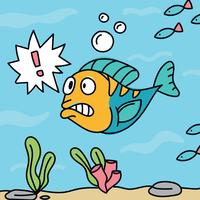 Verrast Cartoon Fish
