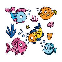 Bunte Cartoon Fische