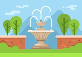 Beautiful Fountain Clip Art