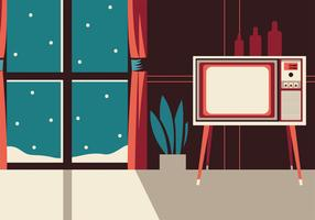 Retri Television Set Vector Design