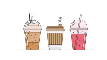 Fast Drinks Vector