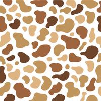 Brown Cow Print Vector