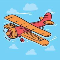 Sketch Biplane Vector