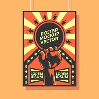 Construtivismo Poster Mockup Vector