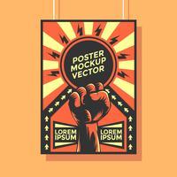 Constructivism Poster Mockup Vector