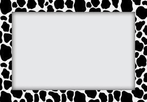 Koe print patroon voor melk thema. Koemelkpatroon toegepast in frame.