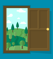 Open Door Landscape vector
