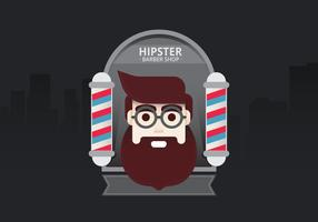 Hipster Livsstil. Hipster Man i Barber Shop för Livsstil Illustration. Young Man Hipster Inside Barber Shop i staden.