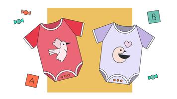 Baby Girl Clothes Vector
