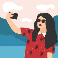 Selfie Illustration Vector