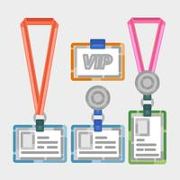 Vector Vip Pass Outline Illustration