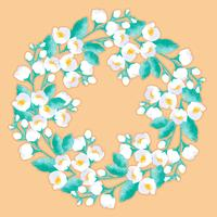 Vector Jasmine Flower Wreath