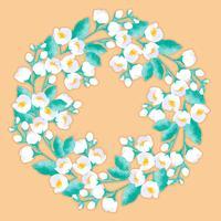 vektor jasmin blomma krans