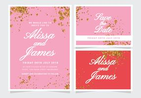 Vector Glitter Wedding Invitation