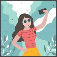selfie illustration