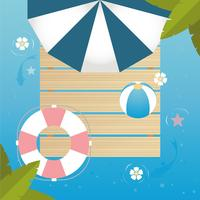 Vector Top view Beautiful Summer Illustration