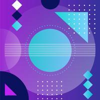 Vektor Memphis Hintergrund Illustration