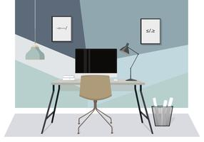 Vector Designer's Desk Illustratie