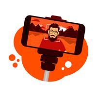 Vecteur de Selfie Stick