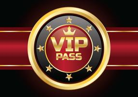 VIP Pass Card vector