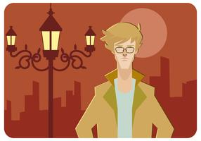 Cool Hipster Men Vector