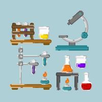 vettore colorato insieme di chimica