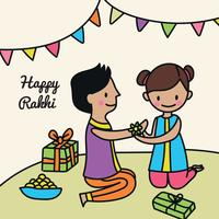 Leuke gelukkige Rakhi Doodle
