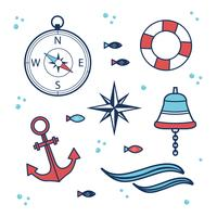 Nautical Elements Vector Set