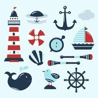 Cute Nautical Element Vector