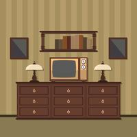 Retro tv-toestel vector