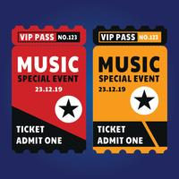 Plantilla VIP Ticket vector