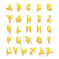 Collection d'alphabet Graffiti plat