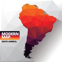 Moderne kaart van Zuid-Amerika