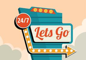 Let's Go Vintage Sign
