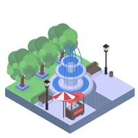 Vector Isometric Park