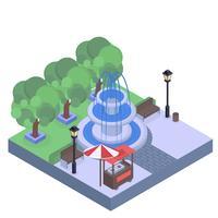 Parque isométrico del vector