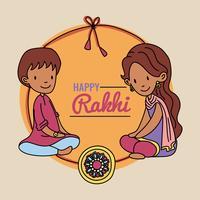 Bruder, Schwester und das Rakhi-Armband