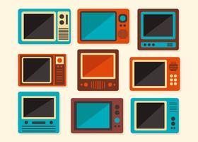 Gamla Retro TV Vector