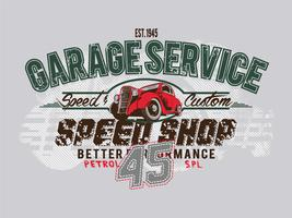 Free Vintage Vector Design de t-shirt SERVICE45