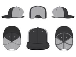 Trucker Mesh Hat Template Vector